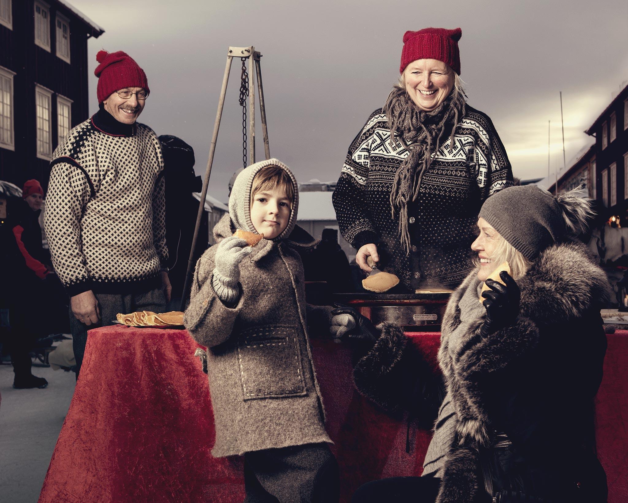 Julemarked på Røros. Foto: Tom Gustavsen